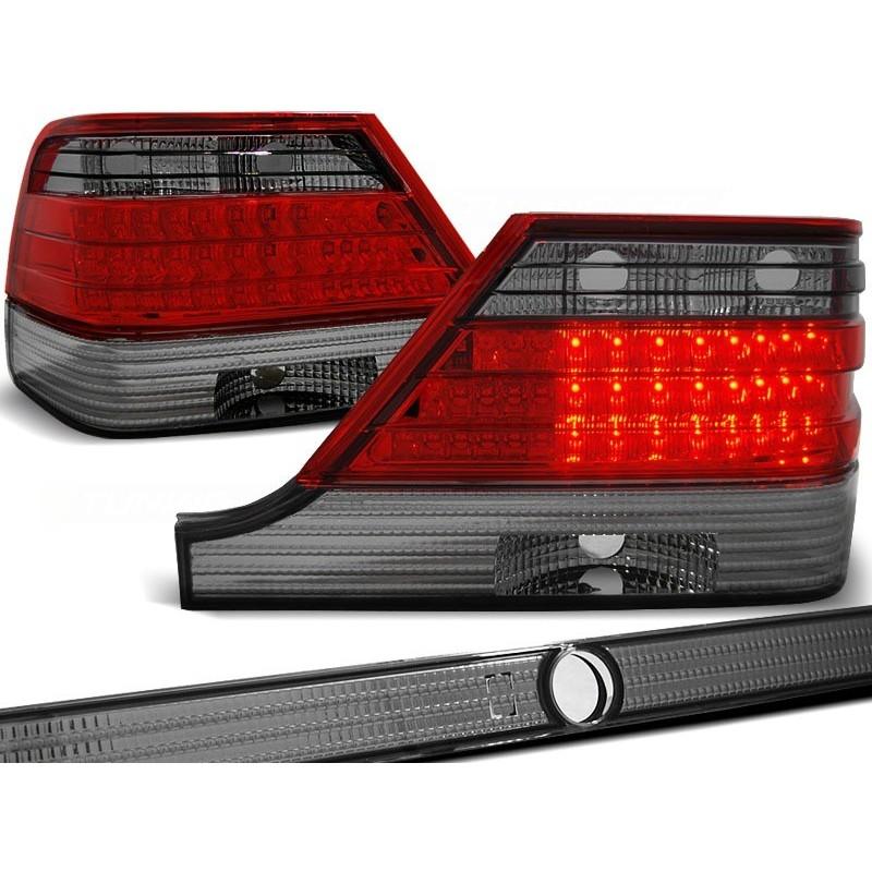 FEUX ARRIÈRE MERCEDES W140 95-10.98 ROUGE FUMÉE LED