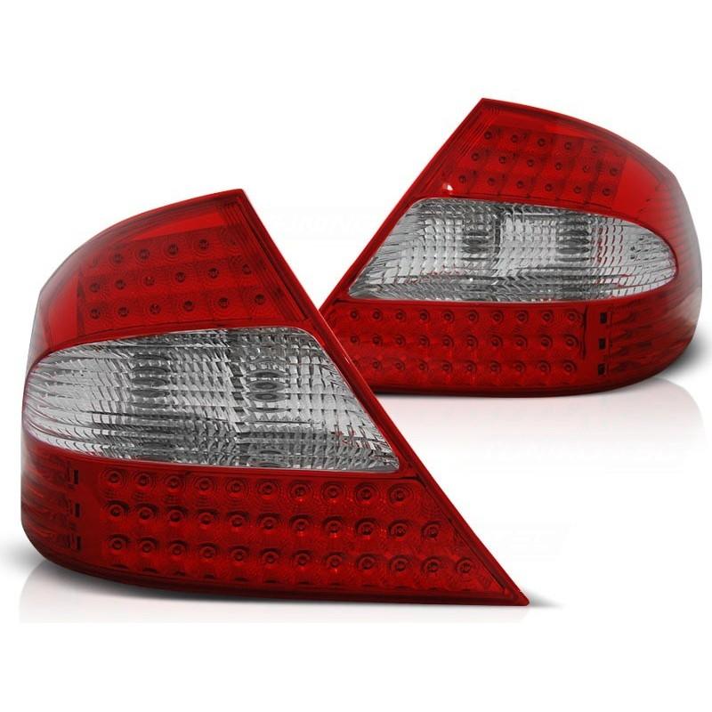 FEUX ARRIÈRE MERCEDES CLK W209 03-10 ROUGE BLANC LED
