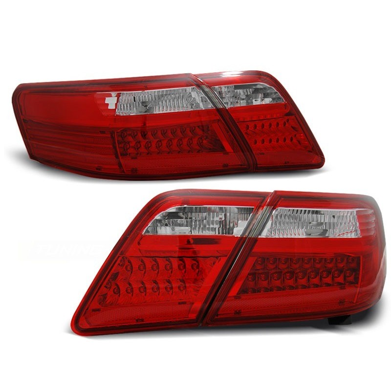 FEUX ARRIÈRE TOYOTA CAMRY 6 XV40 06-09 ROUGE BLANC LED