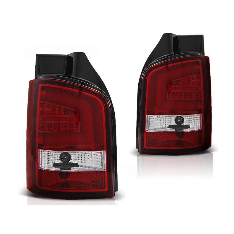 FEUX ARRIÈRE VW T5 04.10-15 ROUGE BLANC LED BAR