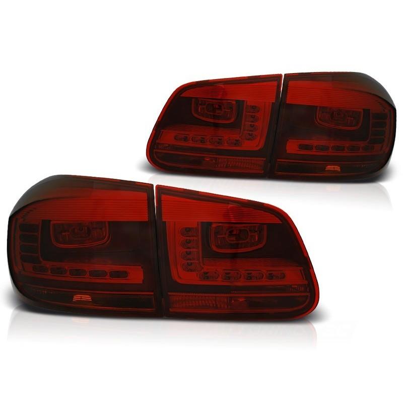 FEUX ARRIÈRE VW TIGUAN 07.11- ROUGE FUMÉE LED