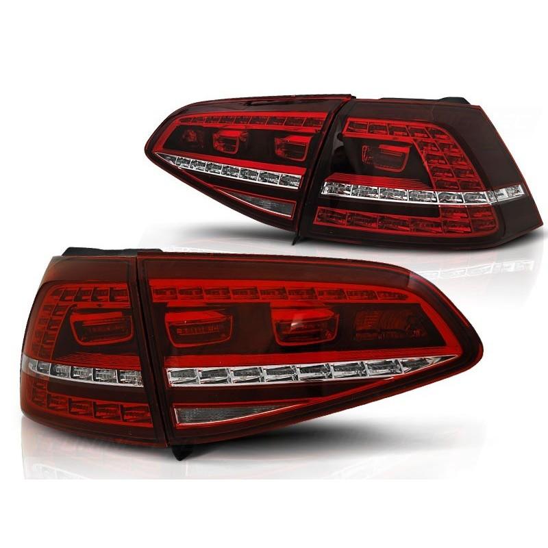 FEUX ARRIÈRE VW GOLF 7 13- ROUGE BLANC LED GTI LOOK