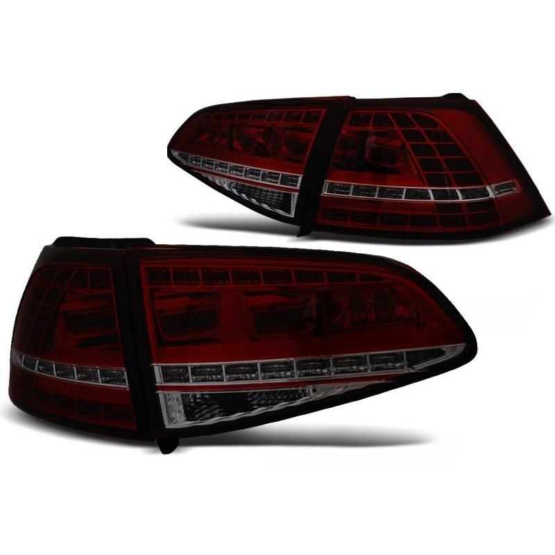 FEUX ARRIÈRE VW GOLF 7 13- ROUGE FUMÉE LED GTI LOOK