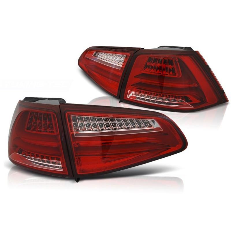 FEUX ARRIÈRE VW GOLF 7 13- ROUGE BLANC LED BAR