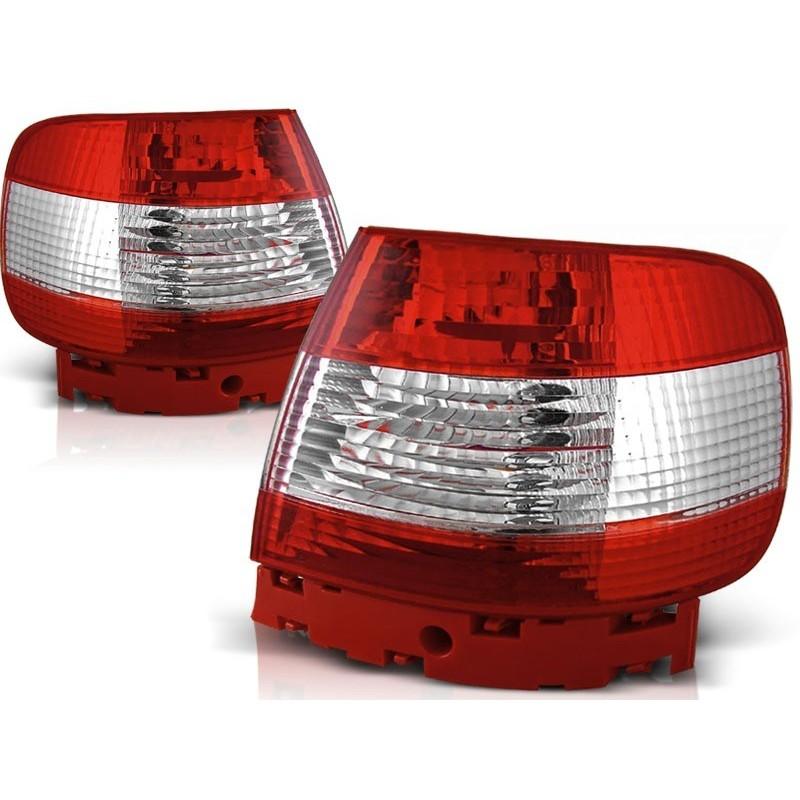 Feux arrières rouge/blanc Audi A4 Berline 94-00