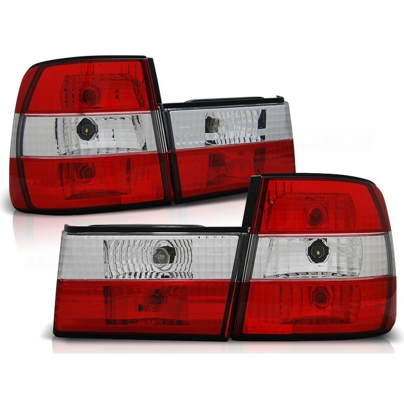 Feux arrières rouge/blanc Bmw E34 4-portes 88-95 en 4 parties