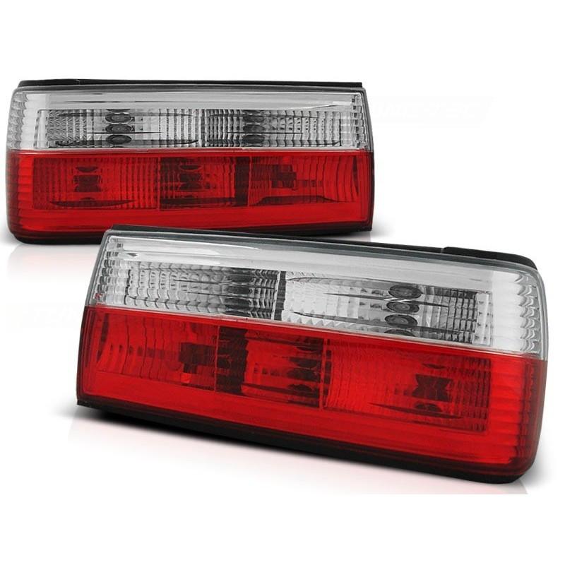 Feux arrières rouge/blanc BMW E30 87-90+CABRIO+TOURING 90-93