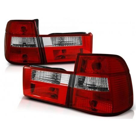 Feux arrières rouge/blanc Bmw E34 Touring 88-95 TOURING en 4 parties
