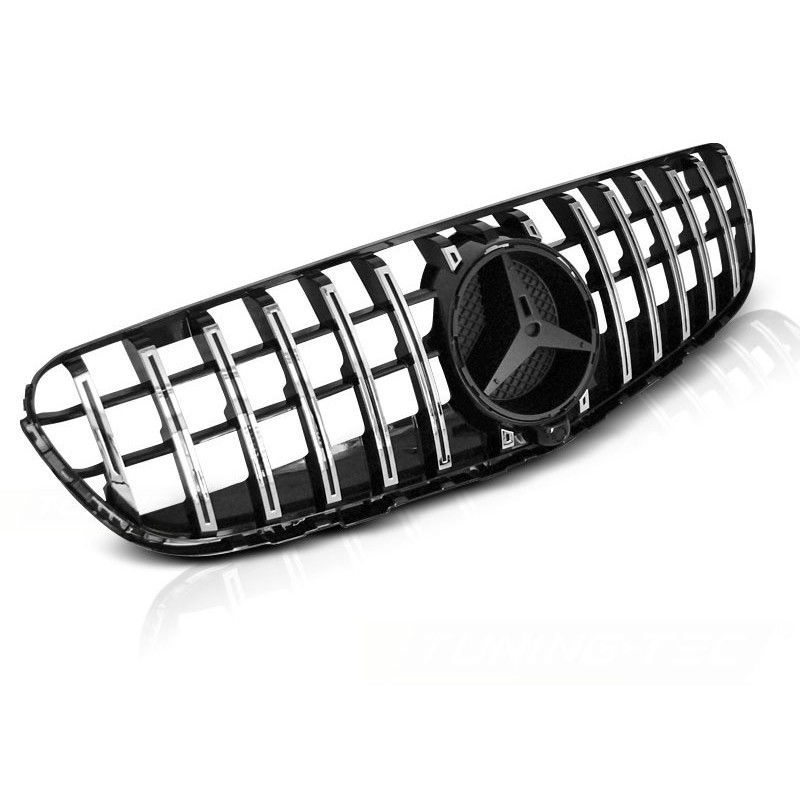 Calandre pour mercedes glc w253 2015 à gt à r style chrome noir brillant