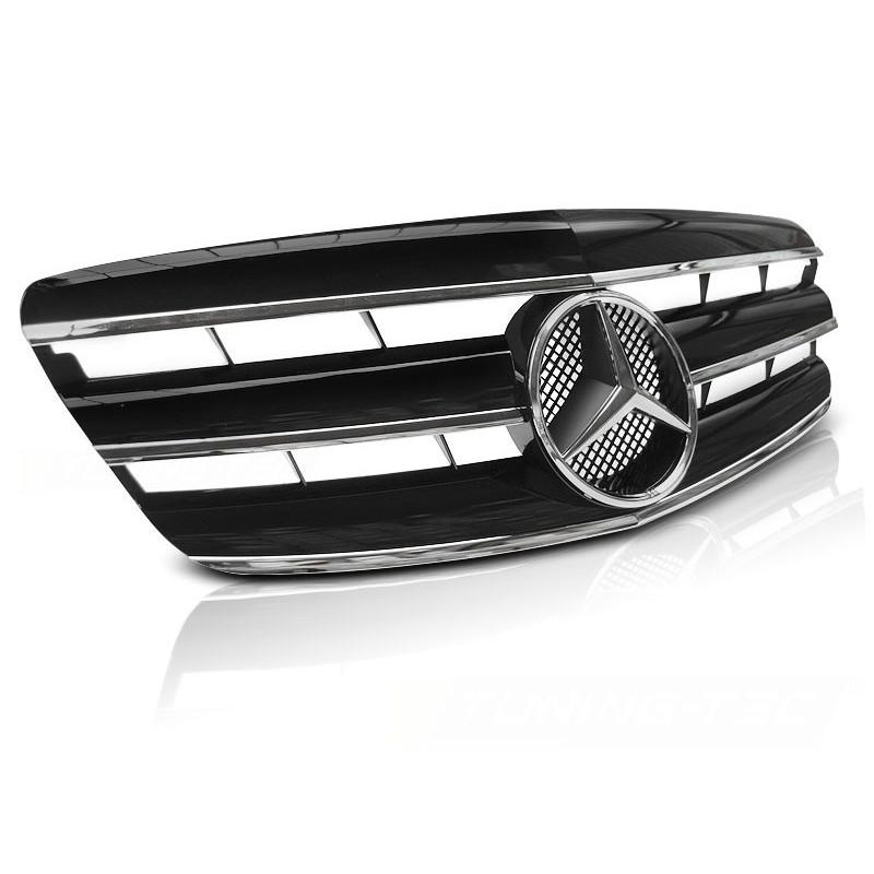 Calandre pour mercedes w221 05-09 cl style noir chrome