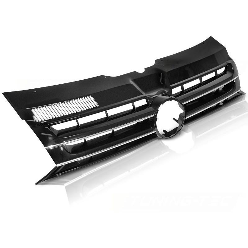 Calandre pour t5 volkswagen caravelle 2010 à 2015 mulivan noir chrome