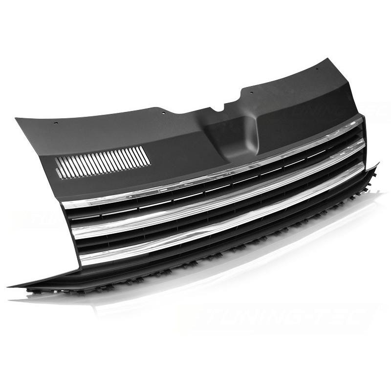 Calandre pour volkswagen t6 à partir de 2015 noir chrome