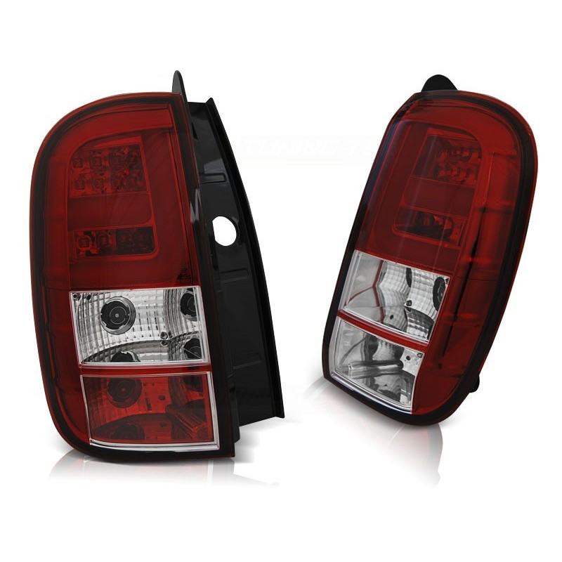 Feux arrieres tuning pour dacia duster 04.10- led bar rouge blanc
