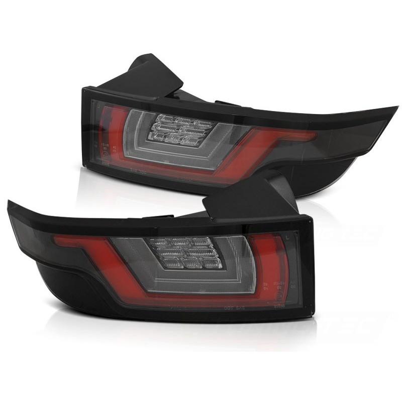Feux arrieres tuning pour land rover range rover evoque 2011 à blanc rouge noir led