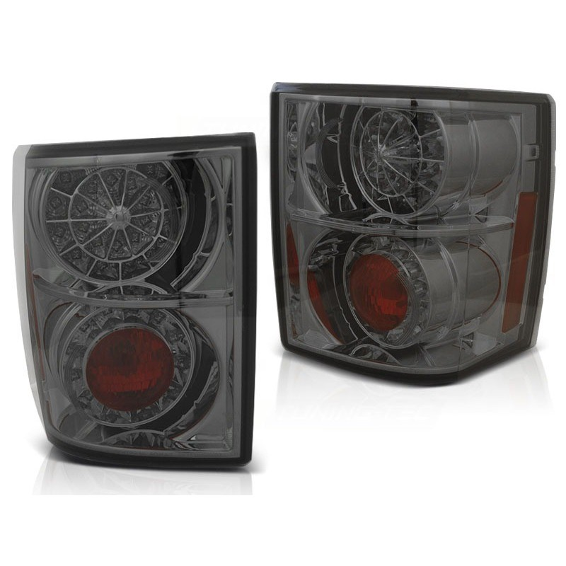 Feux arrieres tuning pour land rover range rover iii 02-12 fumée led