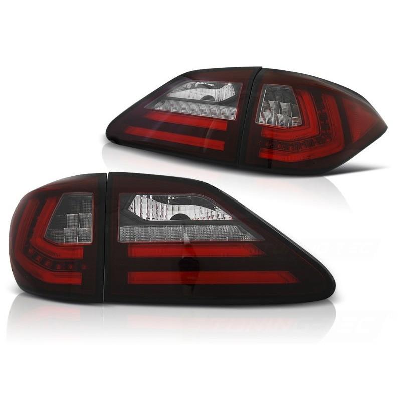Feux arrieres tuning pour lexus rx iii 350 2009 à 2012 rouge blanc led sql