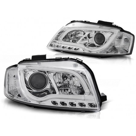 Phares LTI Light Tube Inside Audi A3 03-08 cristal/chrome