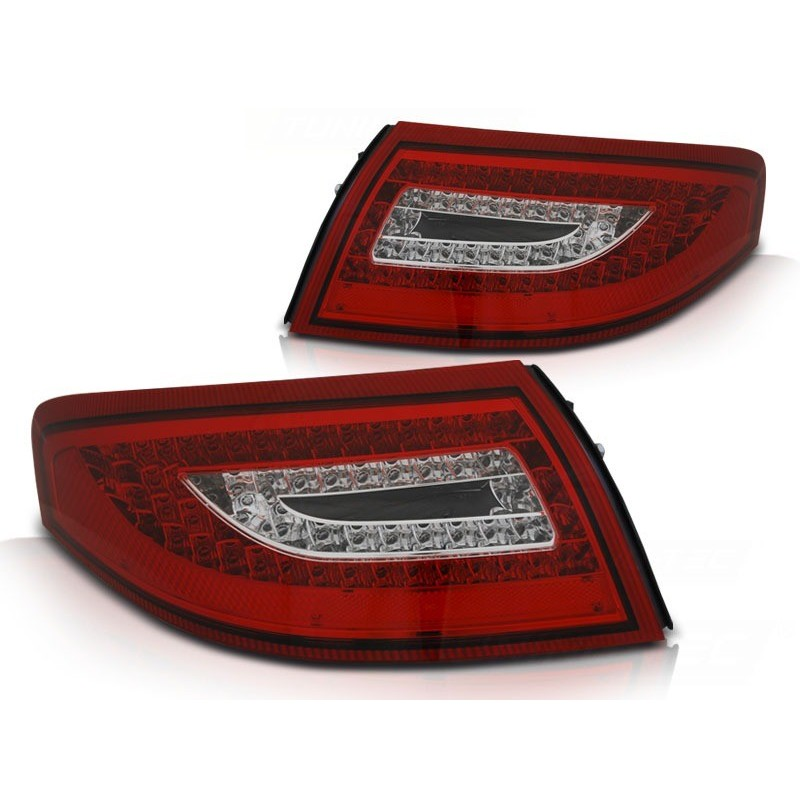 Feux arrieres tuning pour porsche 911 996 99-04 rouge blanc led
