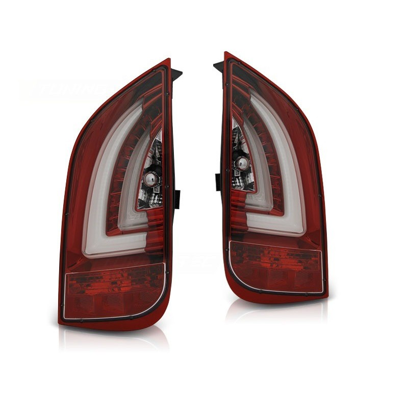 Feux arrieres tuning pour volkswagen up! 3.11- / skoda citigo 12.11- rouge blanc led bar