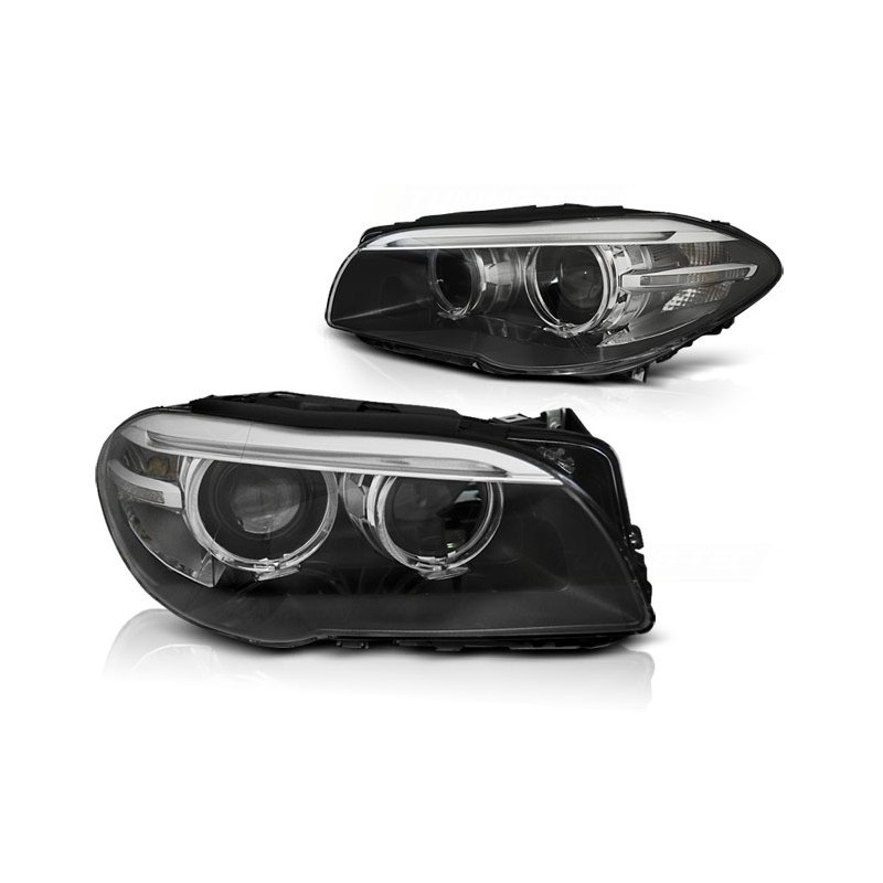 Feux phares avant bmw f10,f11 10-07.13 ae led noir drl