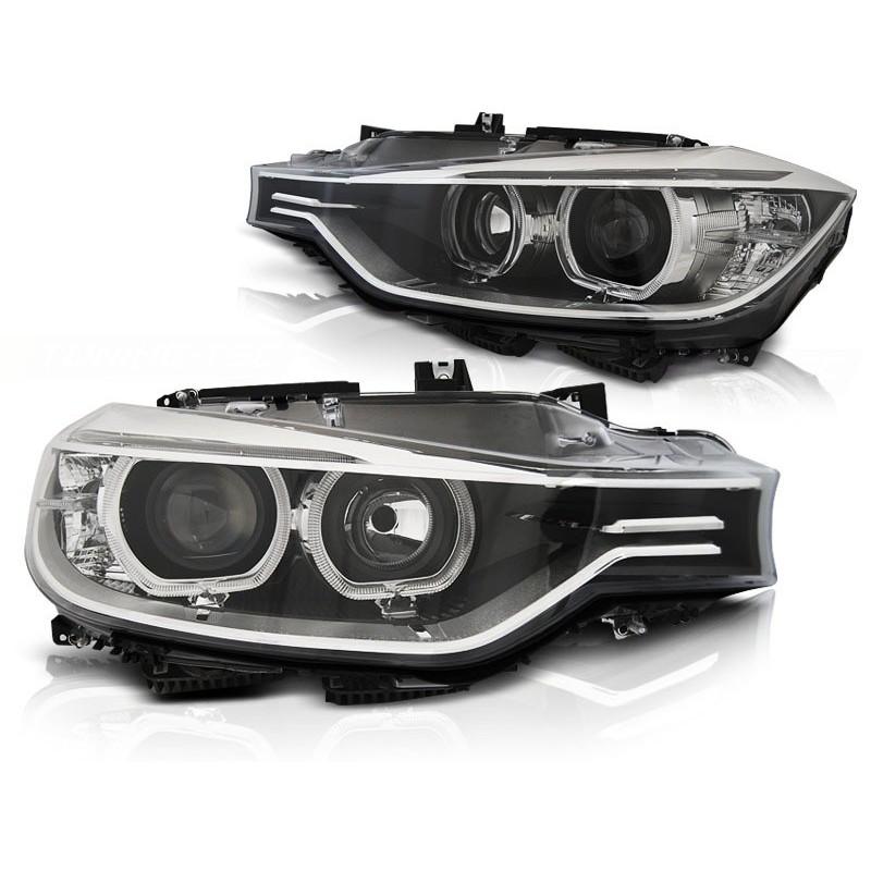 Feux phares avant bmw f30/f31 10.11 - 05.15 angel eyes led noir