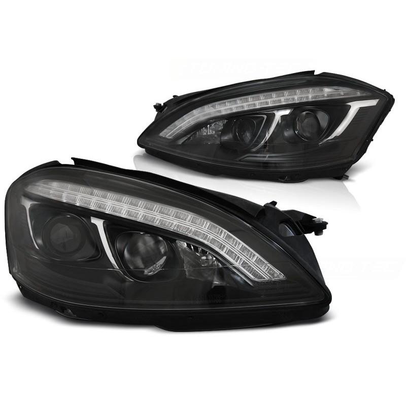 Feux phares avant mercedes w221 05-09 daylight hid noir