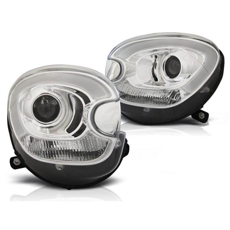 Feux phares avant mini (cooper) r60 r61 countryman 10-14 tube light chrome