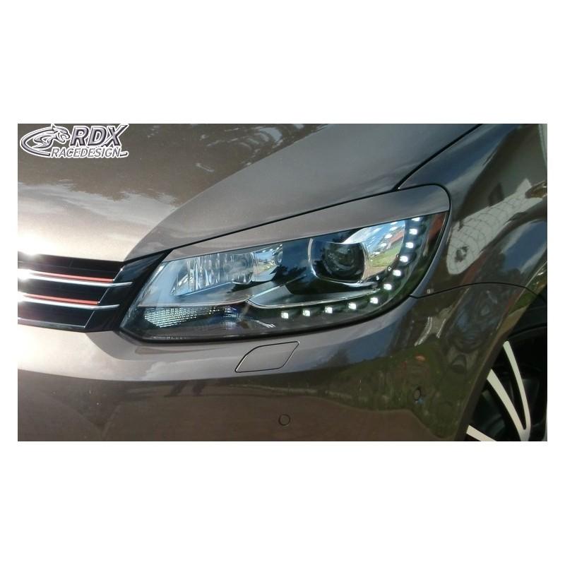 Paupieres de phares VW Touran 1T1 Facelift 2011+ / 2011+ Caddy
