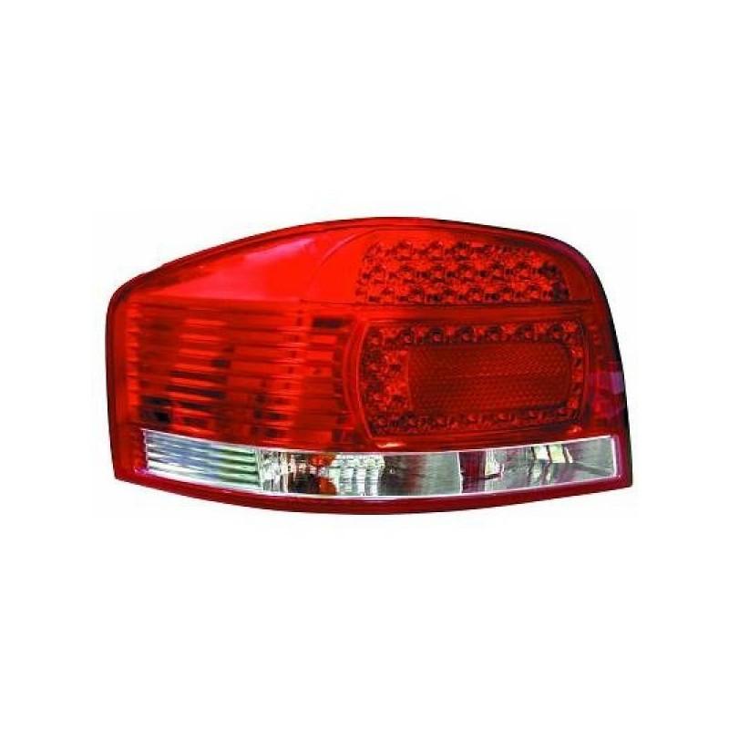 Feux arrières rouge/blanc LED Audi A3 3-portes 03-08