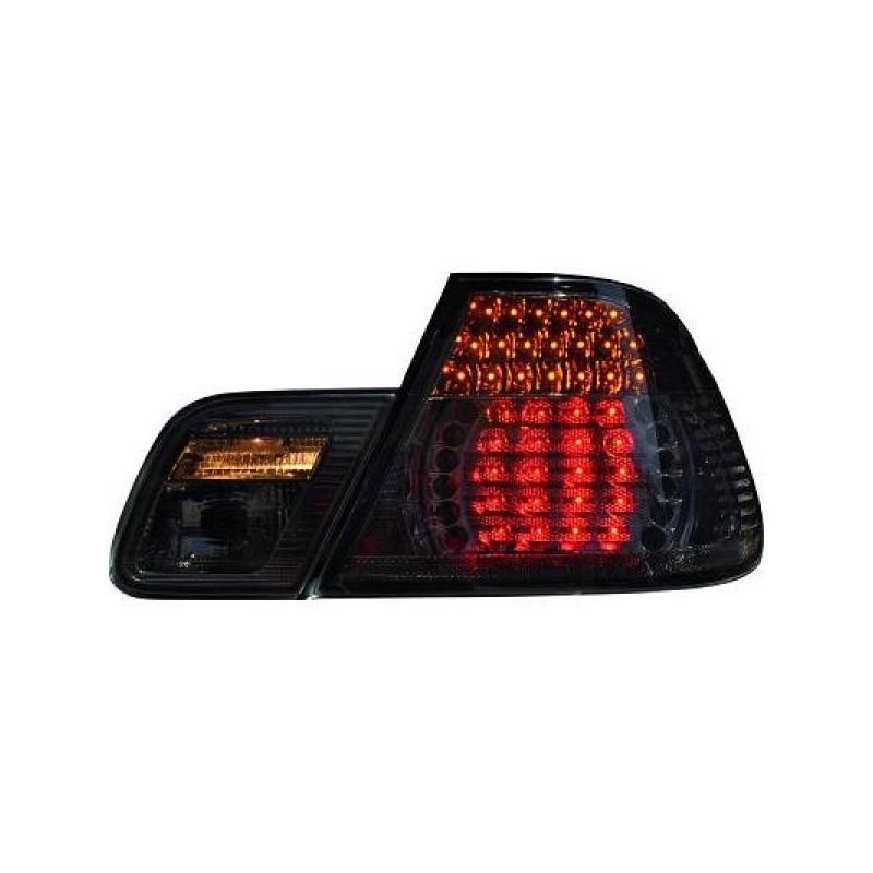 Feux arrières LED noir BMW E46 Cabrio 99-07 en 4 parties