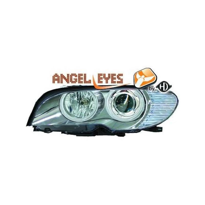 Phares angel eyes chrome CELIS Bmw E46 Coupé/Cabrio 03-06