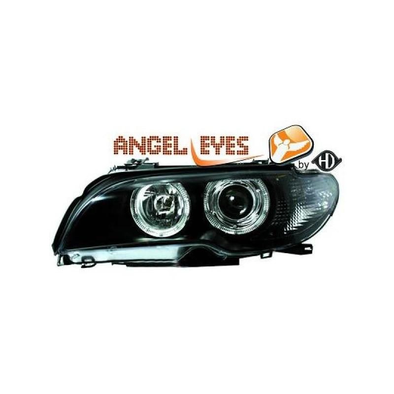 Phares angel eyes noir CELIS Bmw E46 Coupé/Cabrio 03-06