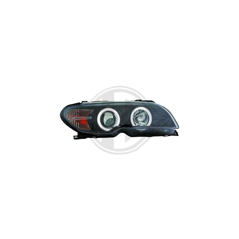 Phares Angel eyes CCFL Bmw E46 coupe/cabrio apres 03