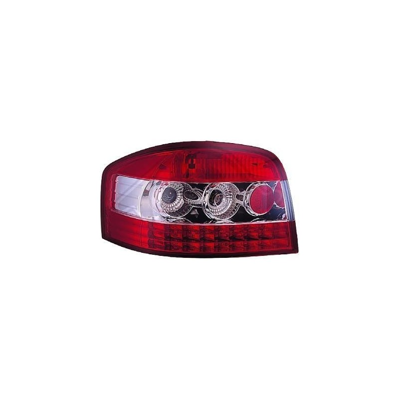 Feux arriere Audi A3 03-08 rouge/chrome