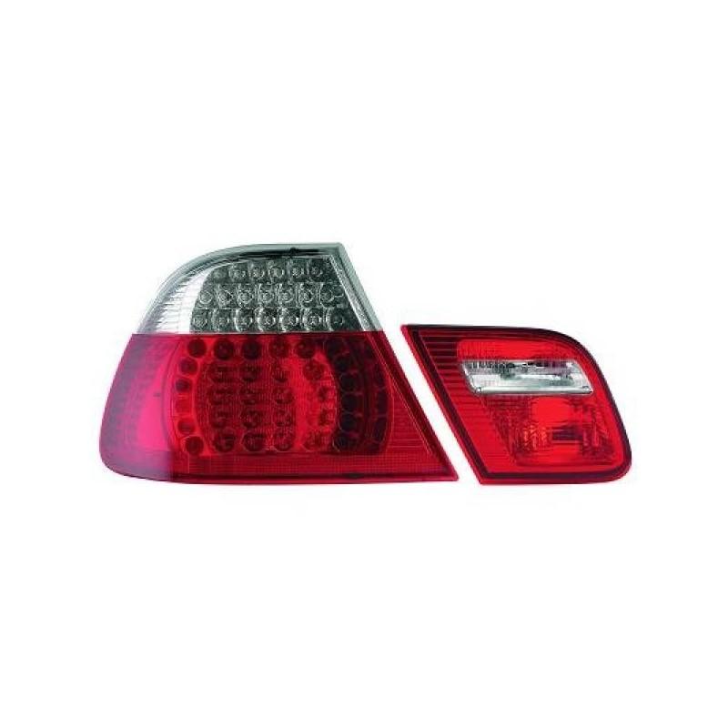 Feux arrières rouge/blanc LED BMW E46 Cabrio 99-07