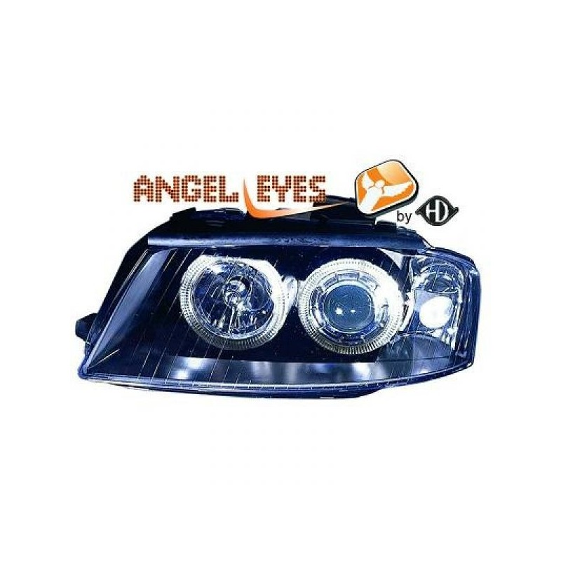 Phares angel eyes noir Audi A3 03-08