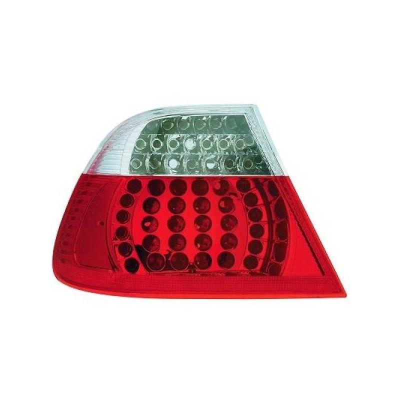 Feux arrières rouge/blanc LED BMW E46 4-portes 01-05