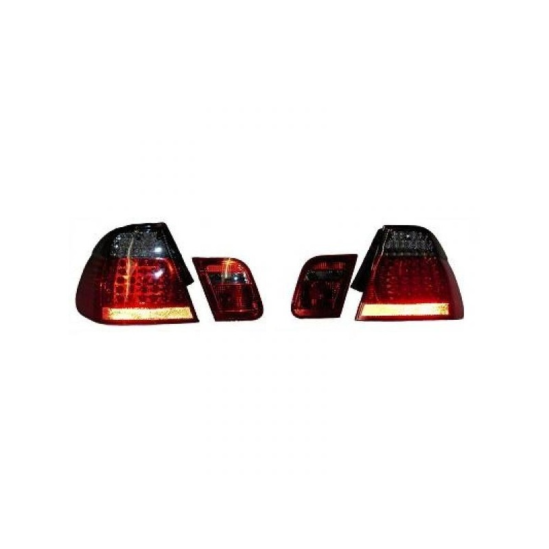 Feux arrières rouge/noir LED BMW E46 4-portes 01-05