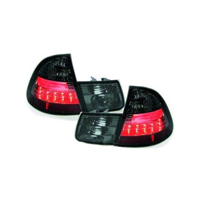 Feux arrières LED rouge/noir BMW E46 01-05 en 4 parties