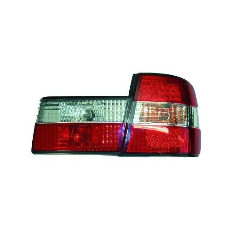 Feux arrières rouge/blanc LED Bmw E34 4-portes 88-95